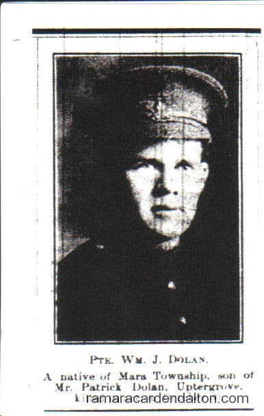 Pte. William Joseph Dolan, K.I.A.