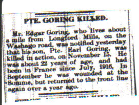 Pte. Earl GORRING-article
