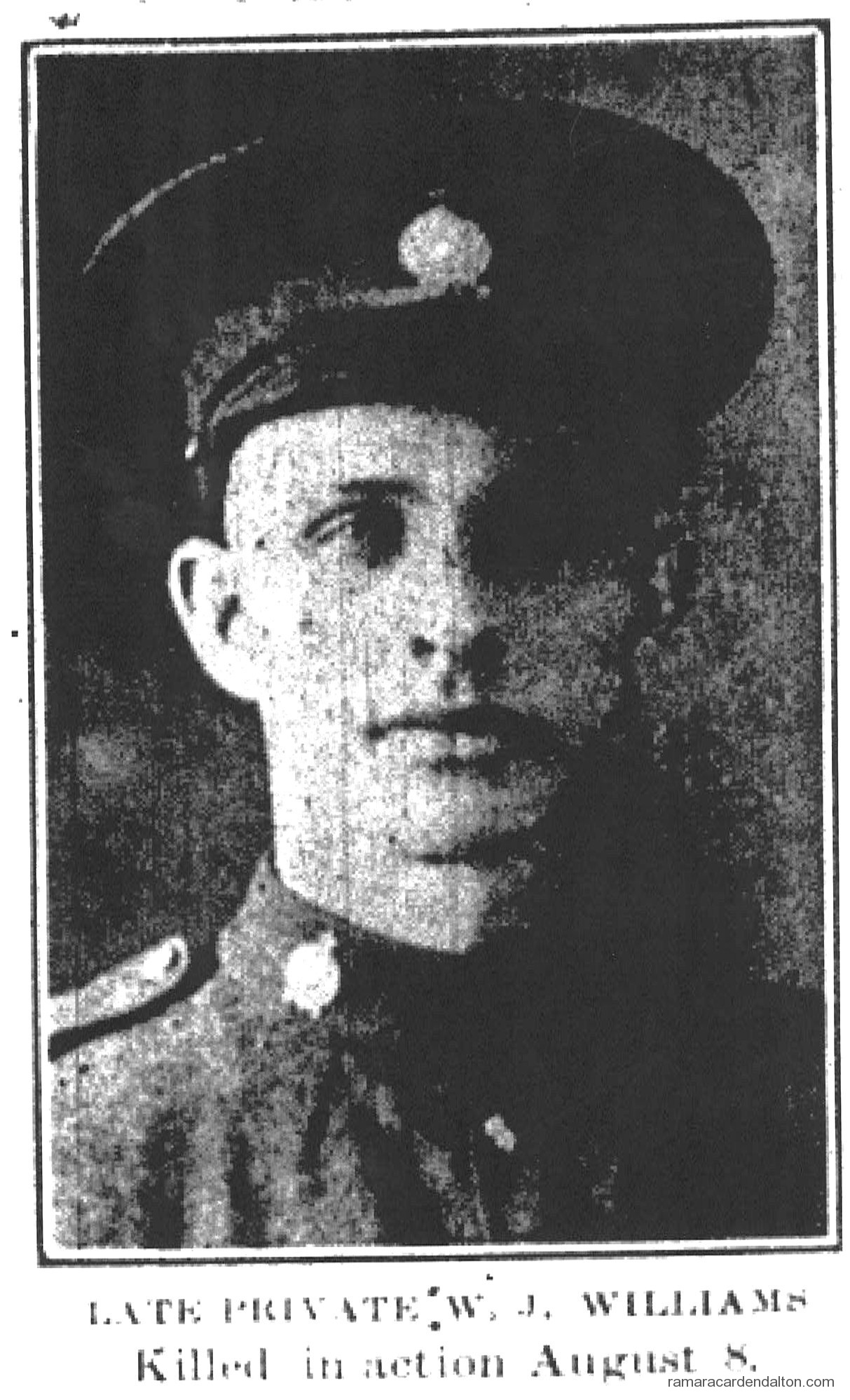 Pte. W. J. WILLIAMS