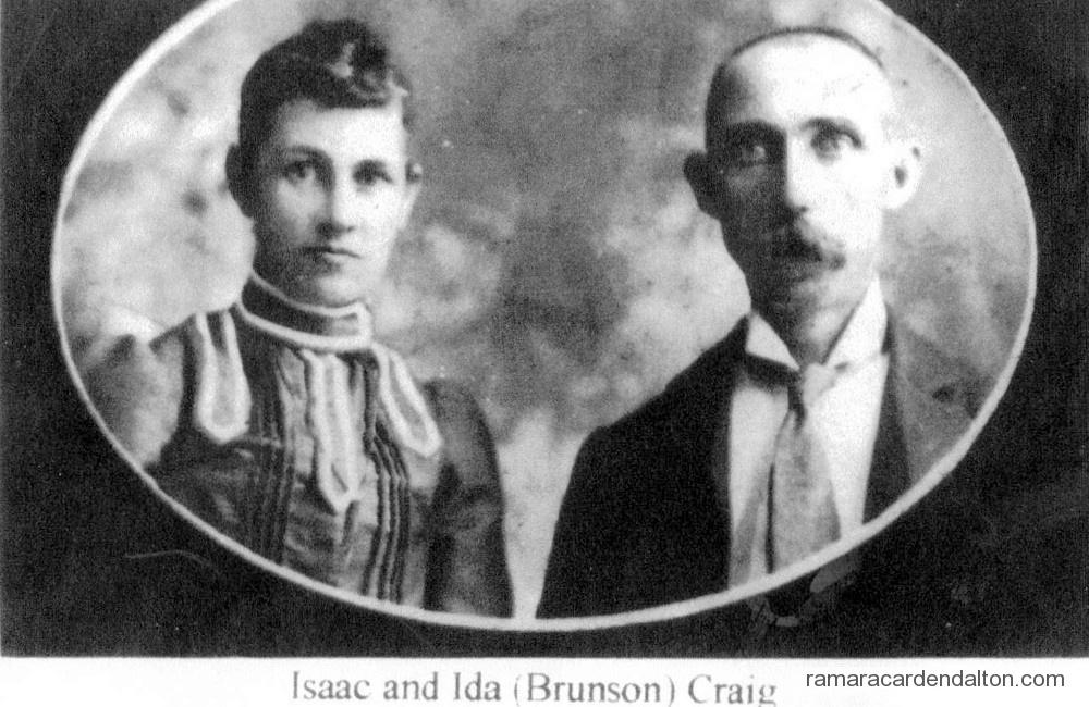 Isaac and Ida (Brunson) Craig