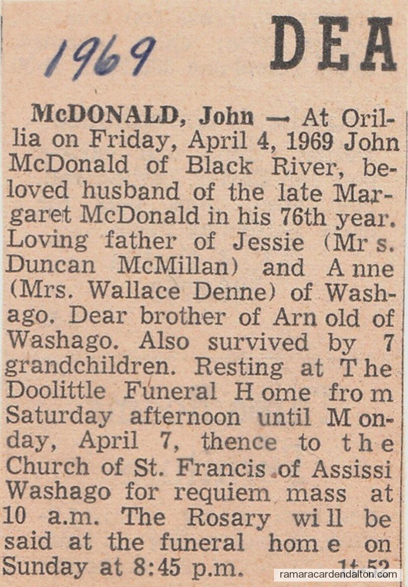 John McDonald Death