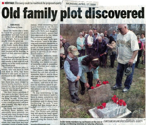 Old Family Plot discovered