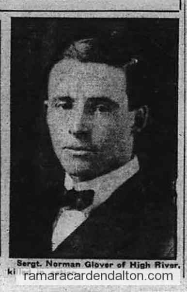 Sergeant Norman Glover, K.I.A.
