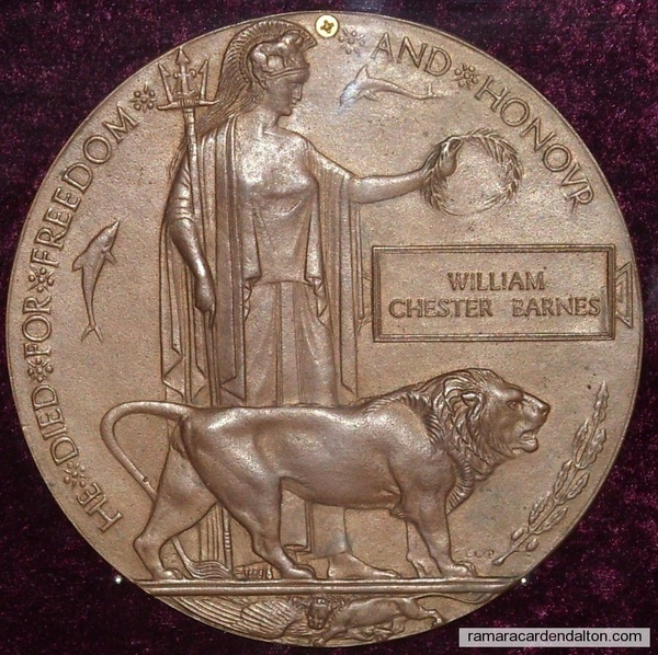 English Medal to Dead Canadians