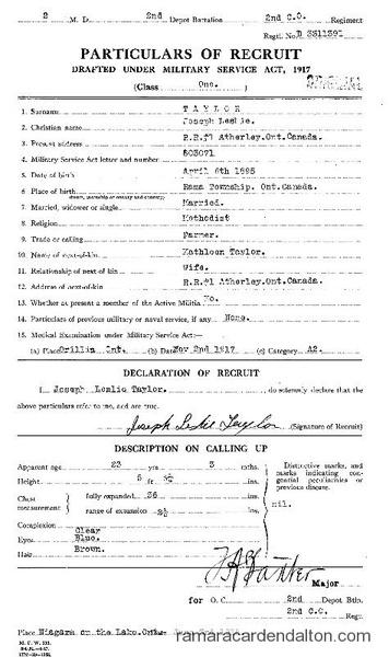 Joseph Leslie Taylor Draft Document