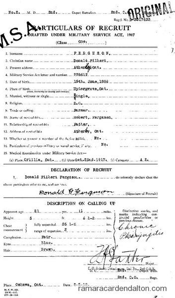 Donald Filbert Ferguson Draft Paper