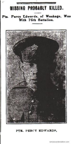 Pte. Percy Edwards, K.I.A.