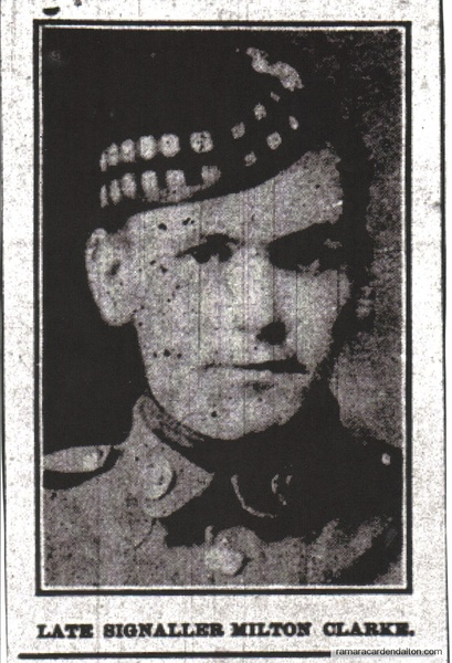 Signaller Milton Clarke, K.I.A.
