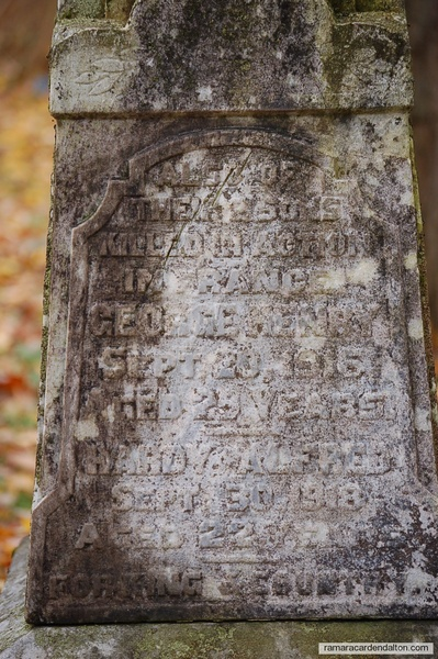 Smith Family Grave Marker- George & Hardy