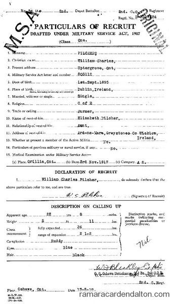 William Charles Pilcher Draft Paper