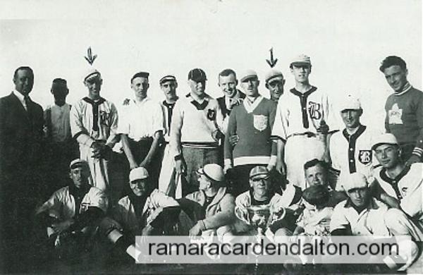 Tom Lambe 1922 Beaverton Team--1st Arrow