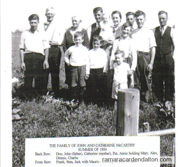 John McCarthy Family 1934
