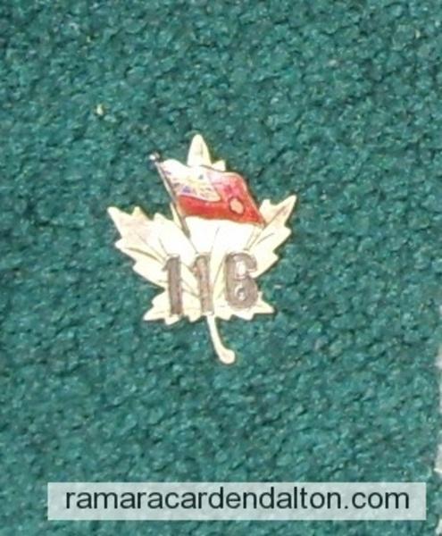 Veron Clarke- 116th Battalion Sweetheart Pin