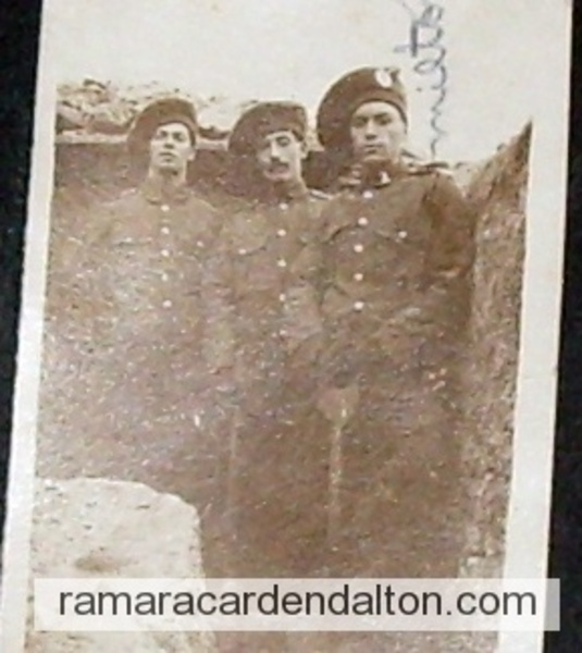 Trench Picture --Very Rare--Milton Clarke on right