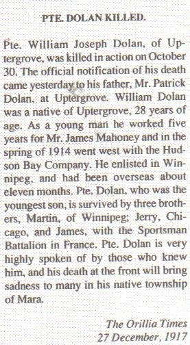 Pte. William J. DOLAN- article