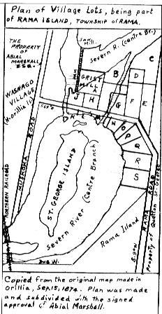 Map-Rama Island-Washago