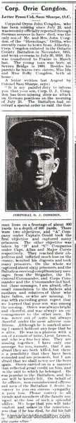 Congdon- letter from Colonel