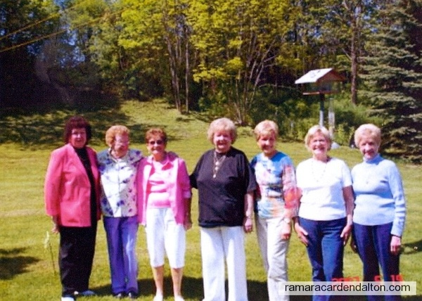 Dorothy, Madeline, Kay, Pat, Audrey, Mary, Joan Collins- May 19 2007