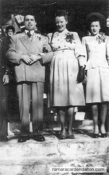 Frank Collins, Shirley Murphy-married Nov. 25 1947-Bridesmaid-Madeline Collins