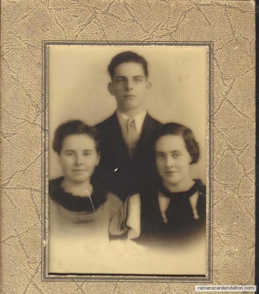 Ken, Addie, Eileen Crosby circa 1937