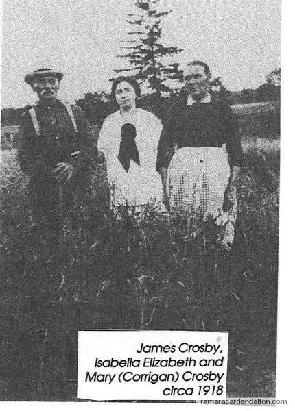 James Crosby (1841-1920), daug. Elizabeth, wife Mary Corrigan