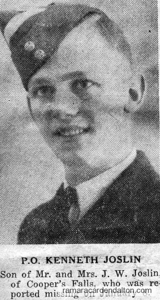 Pilot Officer Kenneth  Ross Joslin, K.I.A.