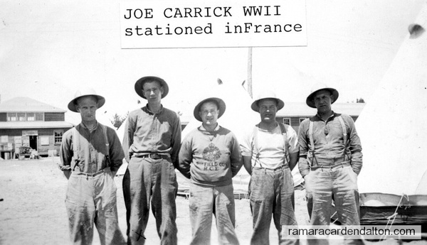 L to R T. Drew, D. Bonering, H. Clark, J. Carrick, T. Vanooner