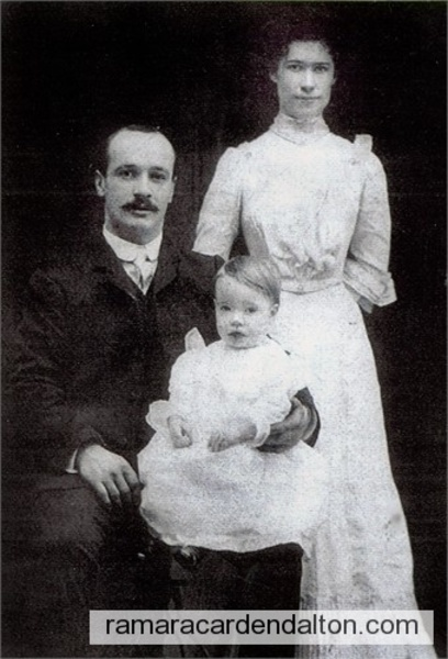 FRANK GRAVELLE, MARY McDONNELL, son GEORGE F. GRAVELLE, circa 1903