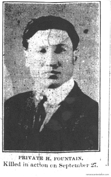 Pte. H. FOUNTAIN, K.I.A.