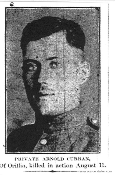 Pte. Arnold Curran, K.I.A.