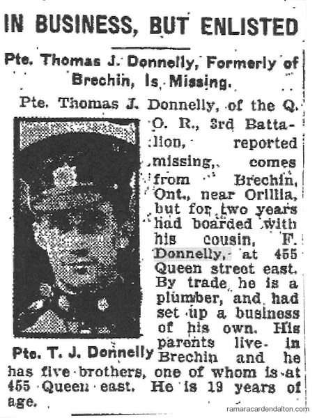 Pte. T.J. Donnelly