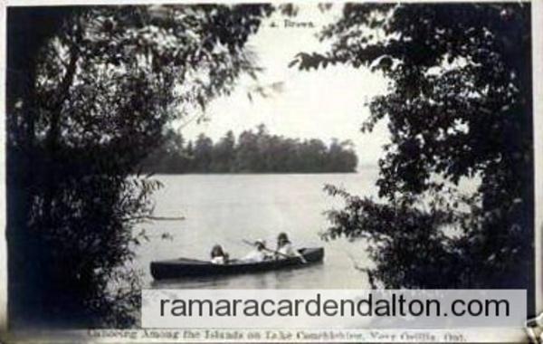 Canoeing amoung the Islands on Lake Couchiching