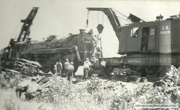 """Trent Canal - """"derail""""-May 24 1949"""
