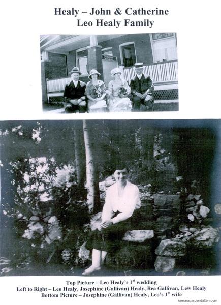 Leo Healy's Family