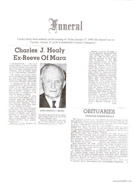 Charles J. Healy Obituary