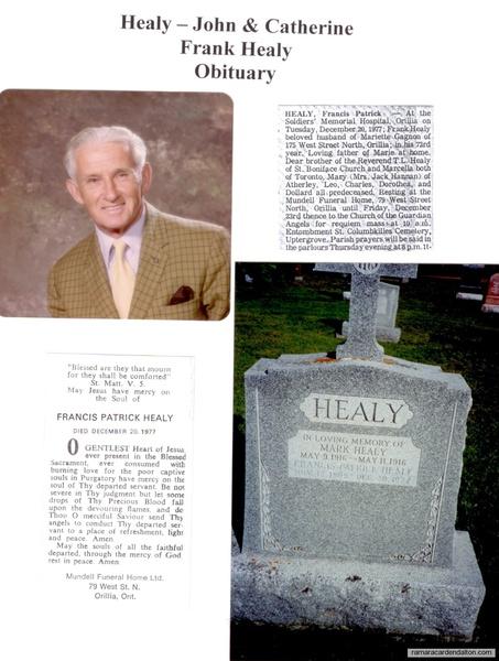 Frank Healy Obituary