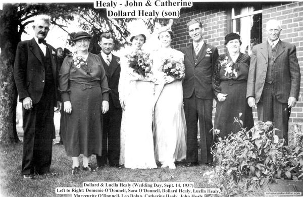 Dollard & Luella Healy Wedding Day-Sept. 14, 1937