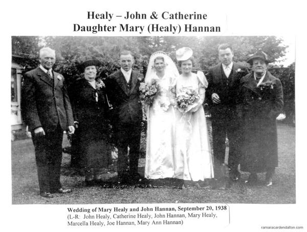 Wedding of Mary Healy & John Hannan-Sept. 20, 1938