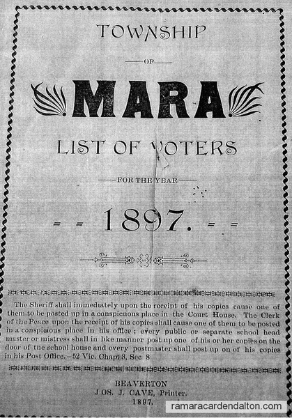 View the album 'Township Mara Voters-1897'