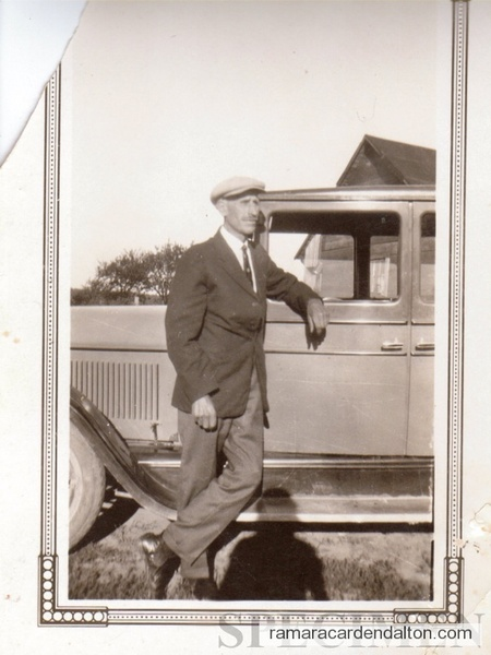 Fred Lamb 1928 with car.