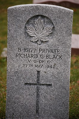 Pte. Richard Godfrey Black, (Died while in the Army)