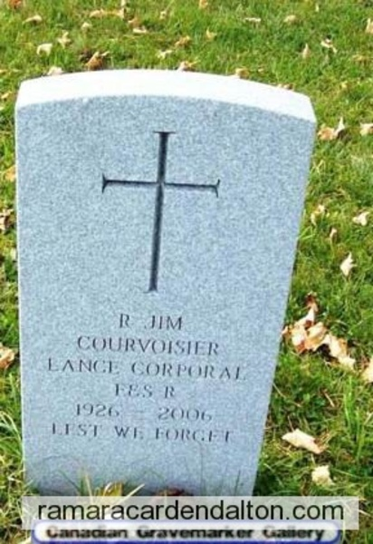 Lance Corporal Reuben  'JIM' COURVOISIER