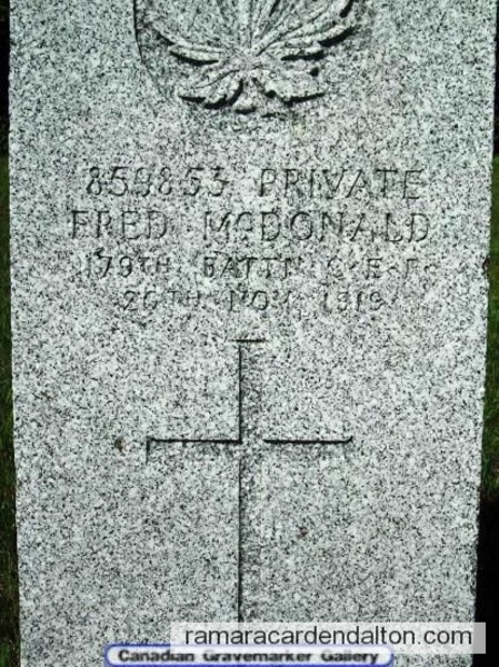 Pte. Fred McDonald