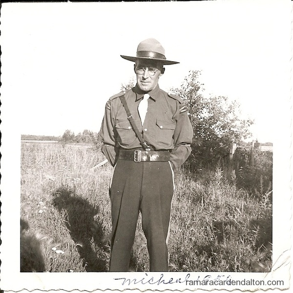 Michael Holmes-Frontiersmen uniform 1956