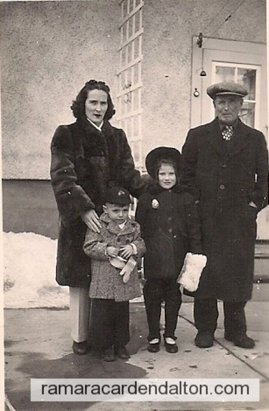 Mrs. Margaret Kelly nee Holmes, Ohra and Howard Jr. Kelly. Thomas Holmes, March 10,1948