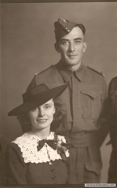 Louis and Violet Holmes wedding picture about 1939