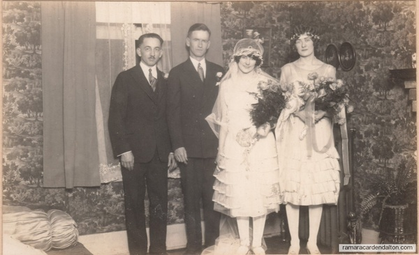Howard Braden, Herbert Hickson, Edith Alberta and Sarah Violet Speiran