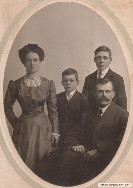 72.Gilbert Hutchings, Louis Moffatt, Cecil and Garnet