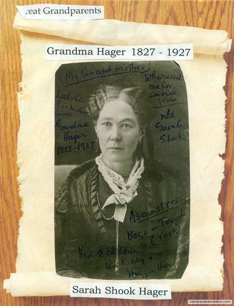 Grandmother Hager--Sarah Shook--1827--1927