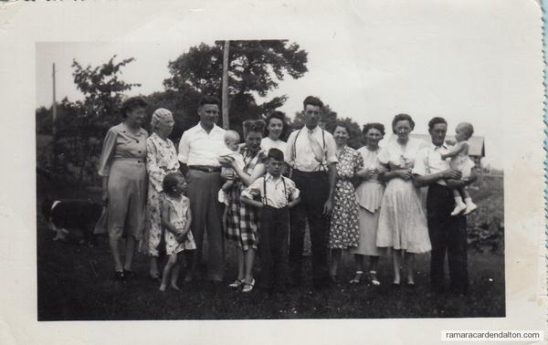 Family of the late Michael Hugh Crosby- circa 1948